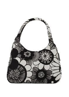 Mesimarja-käsilaukku (mustavalkoinen), Marimekko