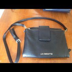 leather Liz Claiborne purse. Black leather Liz Claiborne purse with long cross body strap. Only used a few times :) Liz Claiborne Bags