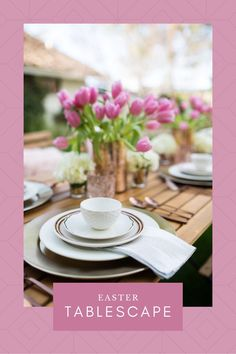 Stylish Table Setting. Stylish Easter. Easter Table Setting. Easter Brunch, Sunday Brunch, Brunch Places, Easter Table Settings, Tablescapes, The Help, Table Decorations, Food, Entertaining