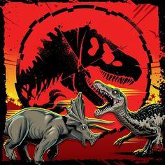 Jurassic Park Poster, Jurassic Park Series, Jurassic Park World, Godzilla, Indominus Rex, Pokemon, Dragon's Lair, Scott Pilgrim, Dinosaur Art