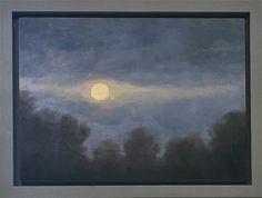 Maria Levinge Still Moon - Jorgensen Gallery Irish Landscape, List Of Artists, Source Of Inspiration, Landscape Paintings, Contemporary Art, Moon, Gallery, Artwork, The Moon