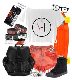 """Casual Twenty One Pilots"" by neverland-is-just-a-dream-away ❤ liked on Polyvore featuring Givenchy, Betsey Johnson and All Day"