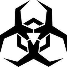 Malware Hazard Symbol - Red by Symbol to label potential sources of malware. Based on the standard biohazard symbol. This variation red with stroke edges, on Celtic Love Symbols, Hazard Symbol, Monster Stickers, 3d Prints, Symbolic Tattoos, Glyphs, Cool Websites, Vector Free, Geometric Tattoos