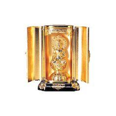 Gold arabesque mini Buddhist altar fittings 7-piece set Japan Import F//S