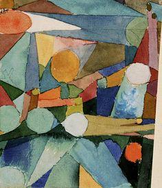 クレー 「色の形」 1914  10.3 x 13 cm  バーン財団