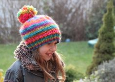Ravelry is a community site, an organizational tool, and a yarn & pattern database for knitters and crocheters. Knitted Hats, Crochet Hats, Ravelry, Rainbow, Wool, Knitting, Pattern, Projects, Art