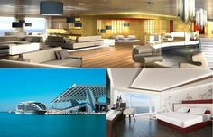 The World's First Grand Luxury Yacht Hotel, The Sunborn Barcelona, Spain Hotels, Luxury Yachts, Barcelona Spain, First World, Star, Outdoor Decor, Inspiration, Home Decor, Biblical Inspiration