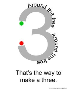 FREE printable cards and rhymes for learning to write numbers