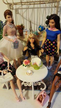 The One Sixth Scale Dollhouse Barbie Birthday, Dollhouse Ideas, New Set, Birthday Celebration, Scale, Birthdays, Dolls, Disney Princess, Celebrities