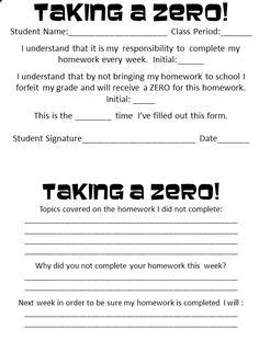 What do you do when kids skip a homework assignment?