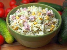 Sałatka czosnkowo-koperkowa z makaronem ryżowym Potato Salad, Recipies, Pork, Food And Drink, Menu, Cooking, Ethnic Recipes, Fit, Salad
