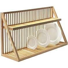 Nice dish rack for over sink Wall Mounted Wooden Plate Rack - Large: Amazon.co.uk: Kitchen & Home