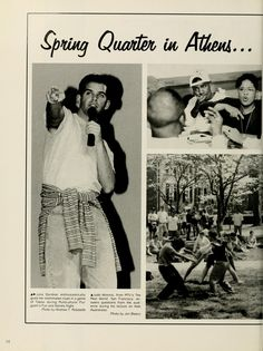 Athena Yearbook, 1995. Pictures showing life during spring quarter at OU. :: Ohio University Archives