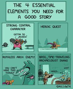4 Essential Elements For a Good Story - Sebastien Millon / Art Illustration