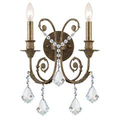 Regis Clear Crystal Wall Sconce from @LaylaGrayce #laylagrayce #lighting #sconce