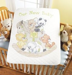 Bucilla Baby 45609 Stamped Cross Stitch Crib Covers, Rocking Horse Bears by Bucilla, http://www.amazon.com/dp/B005P1VB3Y/ref=cm_sw_r_pi_dp_bR7Drb1B1YQ0W