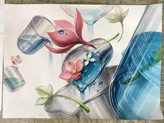 #기초디자인은 역시 #강동스카이 #건국대실기대회 #비커 #물 #묘사 #꽃 #기초디자인 #스카이미술학원 #스카이미술학워ㄴ Surrealism, Sketches, Anime, Painting, Shoe, Design, Drawings, Zapatos, Painting Art