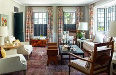 Living room designed by Steven Gambrel