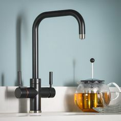 The Pronteau range of steaming hot water kitchen taps are created to sit perfectly within your home complementing the surrounding area they live in Sink Taps, Sinks, Bathroom Trends 2018, Kitchen Mixer Taps, Water Tap, Latest Colour, Under Sink, Water Filter, Monochrome