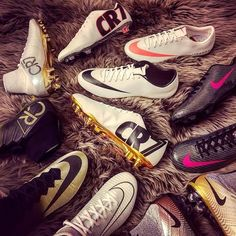 Which pair from @thebeautifulboots' CR7 Mercurial collection would you pick? Help! We can't decide!