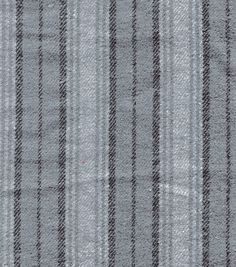 Flannel Shirting Fabric-Gray Stripe Shirting