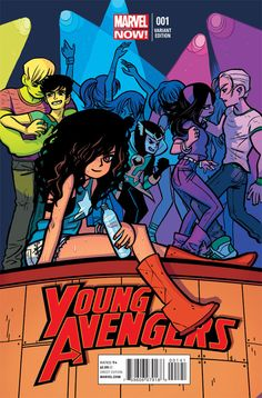 Bryan Lee O'Malley. young avengers