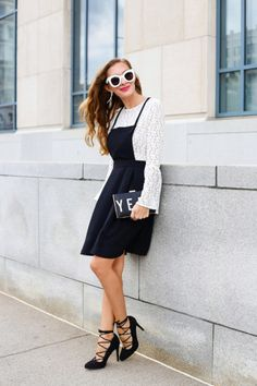 Be a bell-sleeved beauty via Enchanting Elegance.