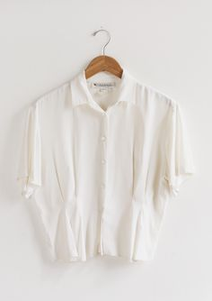 Vintage Pleated Top — Everything Golden