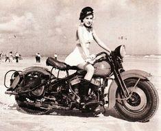 My kind of woman :) #vintage #motorcycles