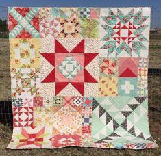 For my birthday last fall, I had Kathleen Polivka custom quilt my Moda Modern Building Blocks Sampler Quilts, Star Quilts, Scrappy Quilts, Quilt Blocks, Star Blocks, Amish Quilts, Quilting Projects, Quilting Designs, Quilting Ideas