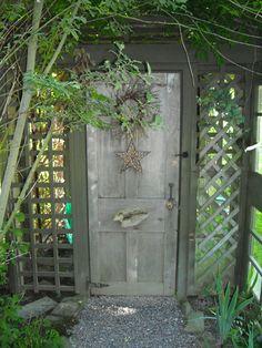 Cool doorway.. Into...? A secret garden?