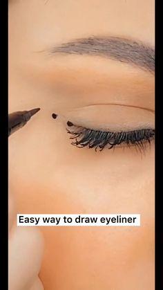 Asian Eye Makeup, Makeup Eye Looks, Eyeliner Looks, Natural Eye Makeup, Eyeshadow Looks, Crazy Makeup, Beach Eye Makeup, Pretty Makeup, Makeup Tutorial Eyeliner