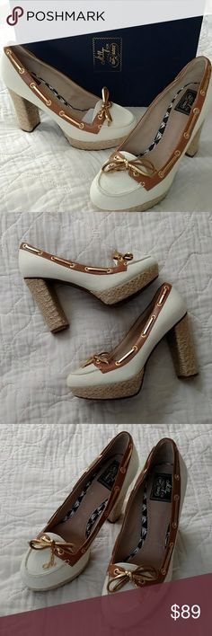 Fabulous Milly For Sperry Nautical Platforms..NIB Get ready to make your Spring statement with these fabulous, gorgeous, new in box platforms!! Milly for Sperry Topsider! Beautifully detailed with a 4.5 in heel. Size 8.5M Milly Shoes