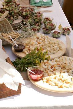 BAUTIZO TRIPLE FIESTA MINT Y AMARILLO buffet- Hello Eventos