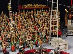 A portion of a 3500 piece miniature circus.