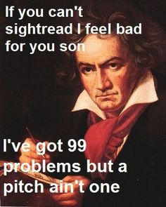 y'all just got served by beethoven.