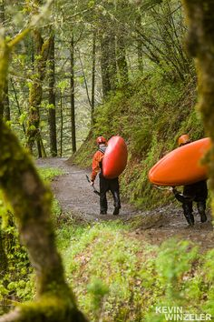 After floating a section of the Columbia River gorge including dropping the Punch Bowl falls, a couple of buddies high five and pack up their boats for the trail home. Near Portland, Oregon Whitewater Kayaking, Canoeing, Sea Cave, Columbia River Gorge, Canoe And Kayak, Rafting, Paddle, Kayaks, Portland Oregon