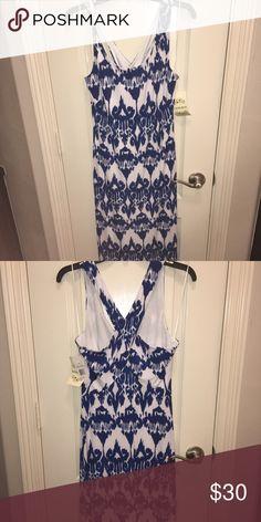 Blue/ white maxi dress NWT maxi dress great for beach weddings Dresses Maxi