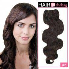 "Dark Brown(#2) Body Wave 10""-30"" 100g Indian Remy Hair Wefts"