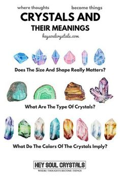 Crystals And Their Meaning - Learn more about the crystal colors, the crystal shapes and crystal size. What do the crystal means and how it affect us. (Crystal Healing For Beginners)