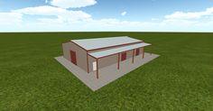 3D #architecture via @themuellerinc http://ift.tt/2m6vrN6 #barn #workshop #greenhouse #garage #DIY