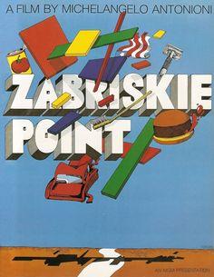 Milton Glaser - Unused poster for Zabriskie Point, 1970. Veja também: http://semioticas1.blogspot.com.br/2011/11/desobedeca.html