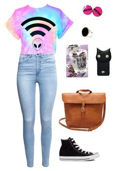 """Untitled #5077"" by northamster ❤ liked on Polyvore featuring River Island, H&M, Converse and Valfré"