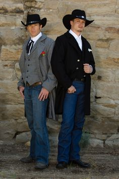 Western wear made in America with the look of authentic cowboy period clothing and accessories to go with our old west clothing for men and women. clothing for cowboy action shooting. Cowboy Wedding Attire, Cowboy Weddings, Western Weddings, Barn Weddings, Outdoor Weddings, Romantic Weddings, Western Suits, Western Wear, Mens Attire