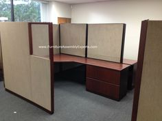 used office cubicles assembled in southern MD by Furniture Assembly Experts LLC. charles county, st marys county