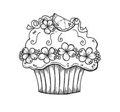 cupcakes coloring pages - Printable Kids Colouring Pages