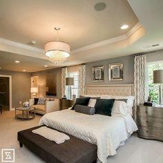 40 Cozy Beautiful Master Bedroom Decorating Ideas - Page 26 of 42 Beautiful Bedrooms Master, Beautiful Bedrooms, Interior, Sanctuary Bedroom, Home, Dream Bedroom, Bedroom Interior, Luxurious Bedrooms, Modern Bedroom