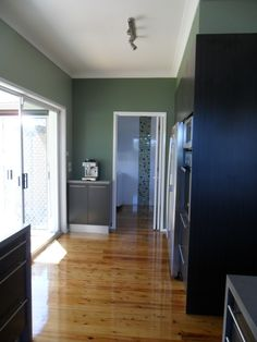 View leading into laundry space