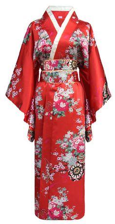 bois Sandale Tabi Kimono Geisha K-g-50-7 rouge Sakura Fleurs Original Japon g.e.t.a
