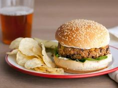 Veggie Burgers   Recipe courtesy of Guy Fieri